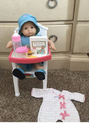 American Girl Bitty Baby Doll Retired LOT Bundle Clothes Outfit Highchair Food Play set Accessories for Sale in Rogers, MN