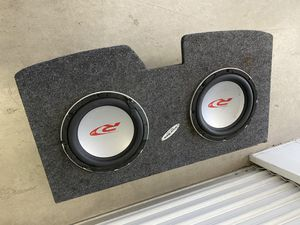 """Alpine subwoofer two 12"""" with box for Sale in Los Angeles, CA"""