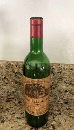 Vintage Antique Wine Bottle 1968 Chateau Magdelaine for Sale in Cerritos, CA