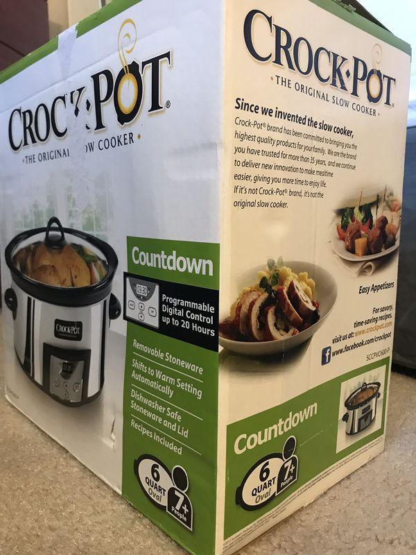 6 Quart Crock Pot Slow Cooker