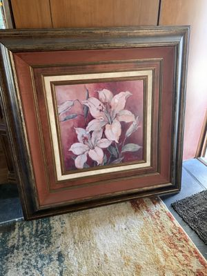 Large framed lily artwork for Sale in Arcadia, CA