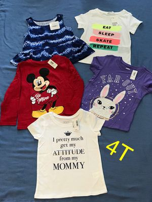 New Toddler Tops Size 4T. (Nuevos) for Sale in Palmdale, CA