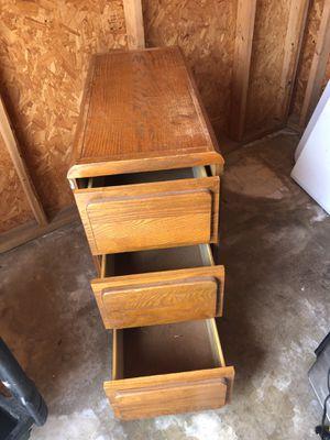 Oak 3 drawer file cabinet for Sale in Palm City, FL