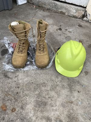 ROCKY WORK BOOTS AND HARD HAT size 7.5 for Sale in Carson, CA
