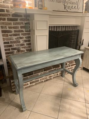 Gorgeous Refinished Solid Wood 48 inch Desk or Console / Entryway Table / Sofa Table for Sale in Lake Worth, FL