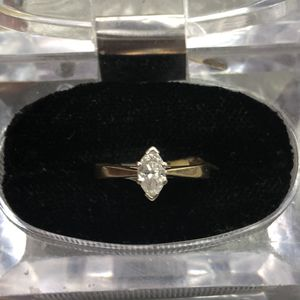 14k yellow gold diamond ring size 7 for Sale in Baltimore, MD