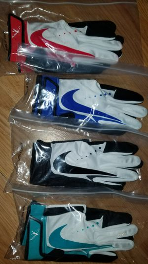 Brand New Nike Baseball Batting gloves Sizes Youth Large Assorted colors, You Pick for Sale in West Covina, CA