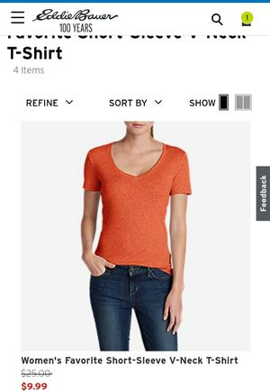 Eddie Bauer Womens Short-Sleeve V-Neck T-Shirt (Large) for Sale in Peoria, AZ