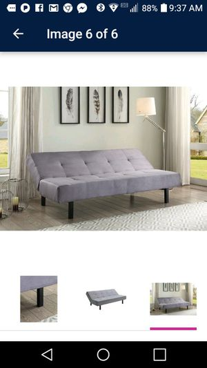 3 way gray futon for Sale in Detroit, MI