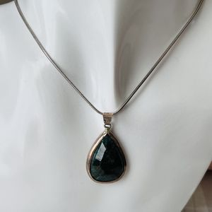 Vintage Green Jasper Sterling Necklace for Sale in Hatboro, PA