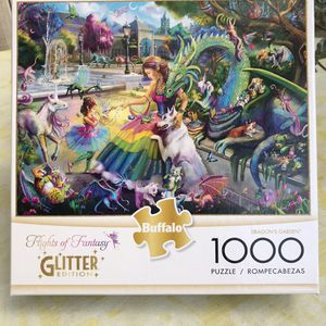 "NEW!!! 1000 Piece Puzzle GLITTER ""DRAGON'S GARDEN"" for Sale in Torrance, CA"