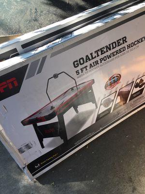 Goaltender 5ft air hockey table 80$ for both for Sale in Sacramento, CA