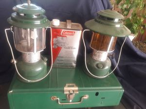 Camping anyone? Coleman lamps only for Sale in HOFFMAN EST, IL