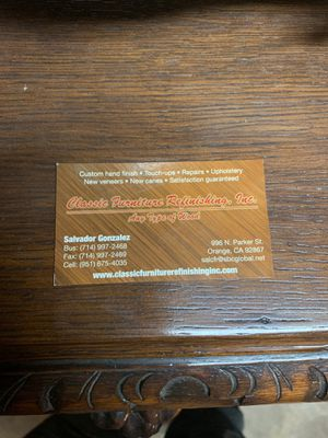 Antique furniture Refinishing/ Reupholstery for Sale in Orange, CA