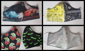 Bandana-Sparkle-Cartoon Masks 😷 for Sale in Spanaway, WA