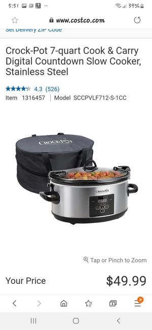 Crock pot Stainless steel Programmable for Sale in Spartanburg, SC