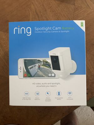 RING Spotlight Security Cam with extra battery for Sale in North Potomac, MD