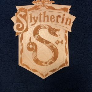 Wood Slytherin Plaque for Sale in Meridian, ID