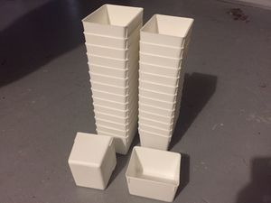 29 White Plastic Little Containers for Storage 10x8x7 cm for Sale in Tampa, FL
