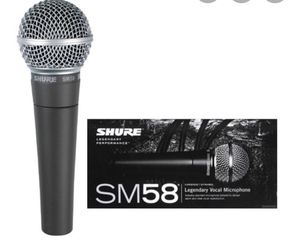 Shure SM58S - with on/off switch. for Sale in Laguna Hills, CA