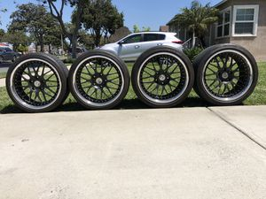 "HRE 540 19"" Staggered wheels and Tires (Stimulus Package) RIMS for Sale in Long Beach, CA"