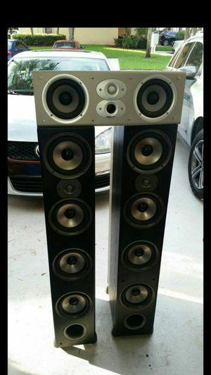 Polkaudio Monitor 70 Floor Speaker's w / CSI3 Center Speaker for Sale in Royal Palm Beach, FL