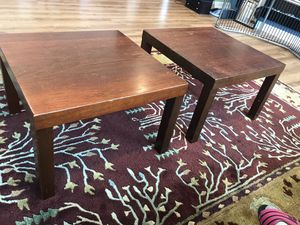 2 Solid wood end tables for Sale in Bellevue, WA
