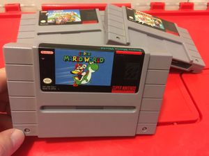 Super Mario World for snes game system classic Nintendo era for Sale in Cleveland, OH