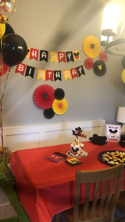 Mickey Mouse 2 year old birthday decorations for Sale in Porter,  TX