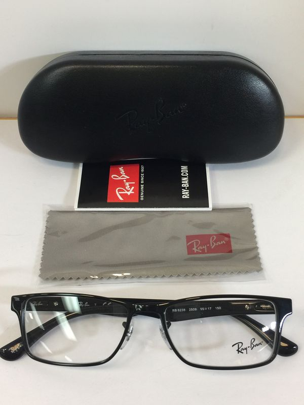 e9ff6e4c1d Ray-Ban RB 6238 2509 Shiny Black Metal Eyeglasses 55mm for Sale in  Alhambra