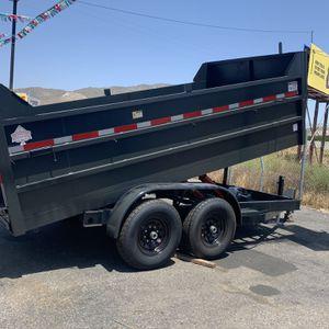 Dump Trailer 8x14x4 drop 3 14000lb gvw $8500+ tax lic for Sale in Santa Fe Springs, CA