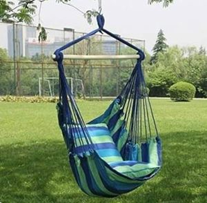 Hanging Rope Chair Porch Swing Hammock Yard Tree Outdoor with Pillows for Sale in Wilkes-Barre, PA