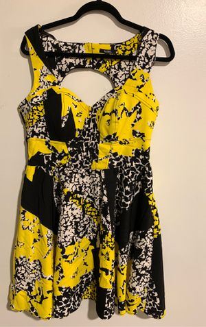 Black, yellow, white dress XOXO brand size 11/12 for Sale in North Las Vegas, NV