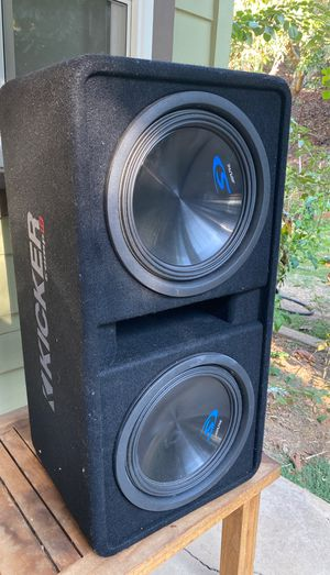 12 inch alpine type 2 subs with box for Sale in Valley Center, CA