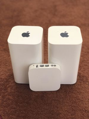 1. Apple extreme WiFi router 2tb time capsule 2.Apple extreme WiFi router 3. Apple WiFi Extension for Sale in Lilburn, GA