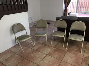 Foldable chairs x4 for Sale in Miami, FL