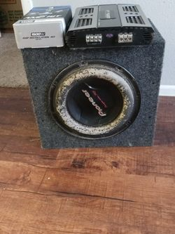 12 Inch Woofer With Complete Amp Kit 16 Stereo Rca Cable And Nt Power Amp 1200 Watts $200 for Sale in San Antonio,  TX