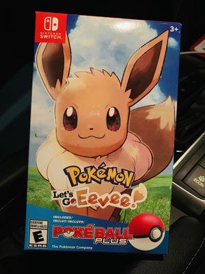 Pokémon Let's Go Eevee Pokeball plus bundle for Sale in Los Angeles, CA