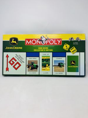 John Deere Collector's Edition Monopoly Game Parker Bros. & Hasbro, 2005 for Sale in El Monte, CA