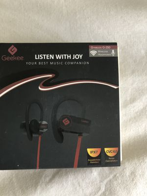Wireless Bluetooth Headphones by Geekee for Sale in Revere, MA