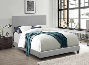 Light Gray Linen Fabric Bed Frame with 4 Slats (Box Spring Required) 7553-TWIN for Sale in Irvine, CA