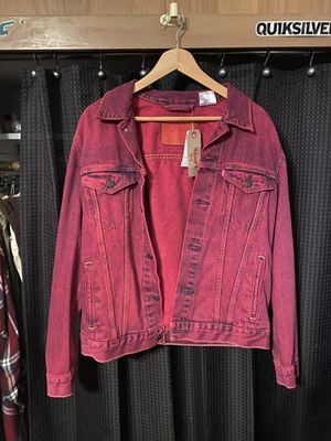 Levi's Jean Jacket Burgundy Medium for Sale in St. Clair Shores, MI