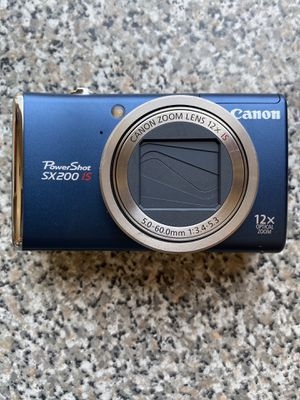 Canon PowerShot SX200IS 12 MP digital camera (navy) for Sale in Hixson, TN