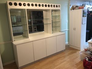White China Hutch with wine rack for Sale in Ormond Beach, FL