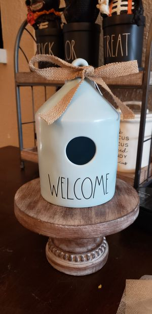 Rae Dunn Blue Welcome Birdhouse for Sale in Federal Way, WA
