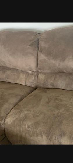 Microfiber Reclining Couch And Double Reclining Chair! for Sale in North Las Vegas,  NV
