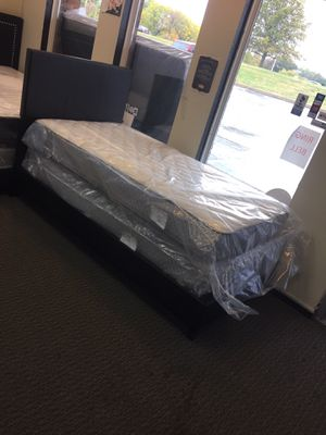 Twin Size Mattress Set & Bed Frame for Sale in Florissant, MO