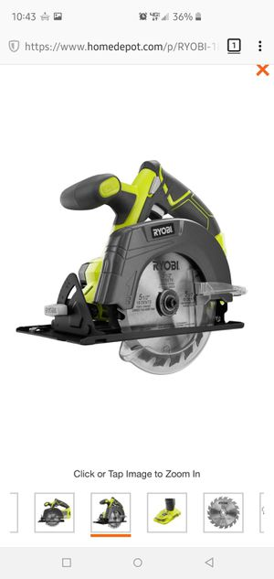 Brand New Never Used 18-Volt ONE+ Lithium-Ion Cordless Circular Saw for Sale in Escondido, CA