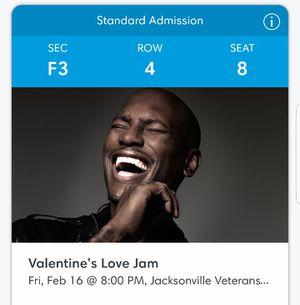 2 Valentine's Day Love Jam tickets for Sale in Jacksonville, FL