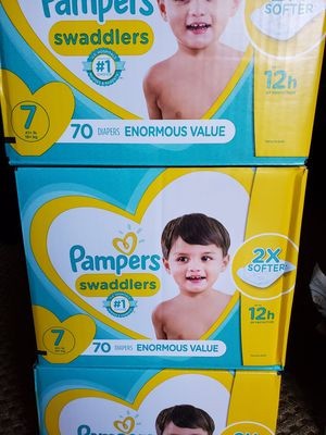 Pampers swaddlers size 7 diapers $40 per box for Sale in LA CANADA FLT, CA